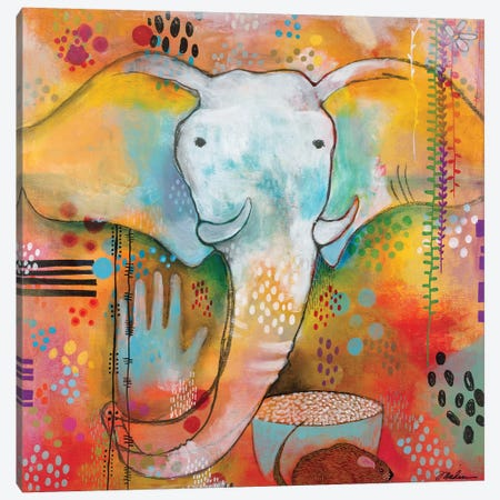 Ganesha Clears The Way Canvas Print #MDR26} by Madara Mason Canvas Artwork