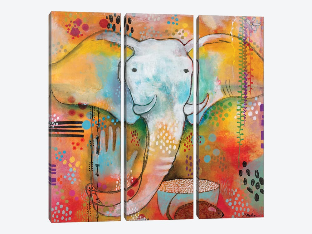 Ganesha Clears The Way by Madara Mason 3-piece Canvas Print