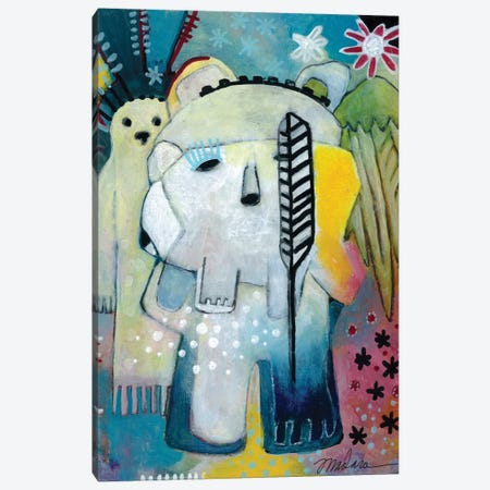Ghost And The Bear Canvas Print #MDR29} by Madara Mason Canvas Art Print