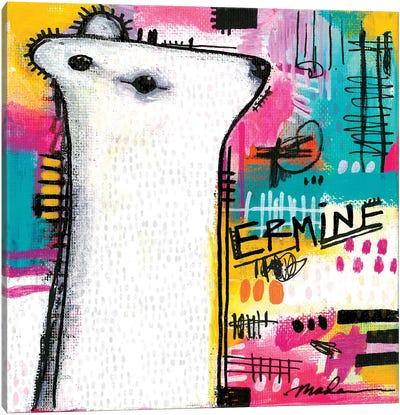 Alpha Ermine Canvas Art Print