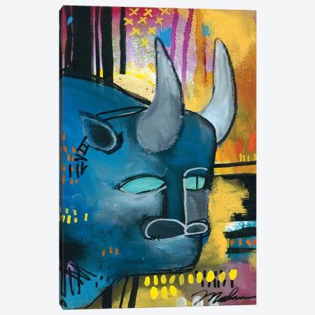 It's All Bull Canvas Print #MDR30} by Madara Mason Canvas Wall Art