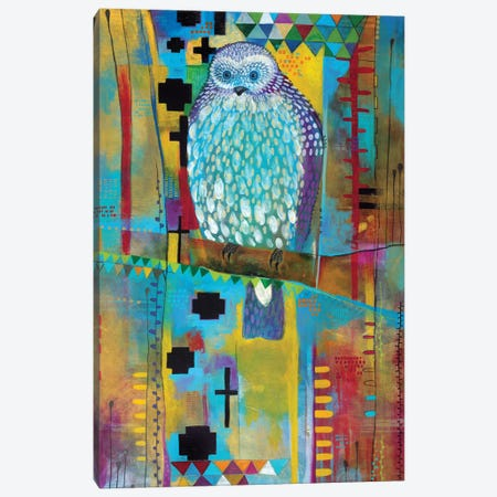 Mantling Owl Canvas Print #MDR35} by Madara Mason Art Print