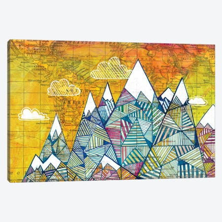 Maps And Mountains I Canvas Print #MDR36} by Madara Mason Art Print