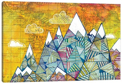 Maps And Mountains I Canvas Art Print