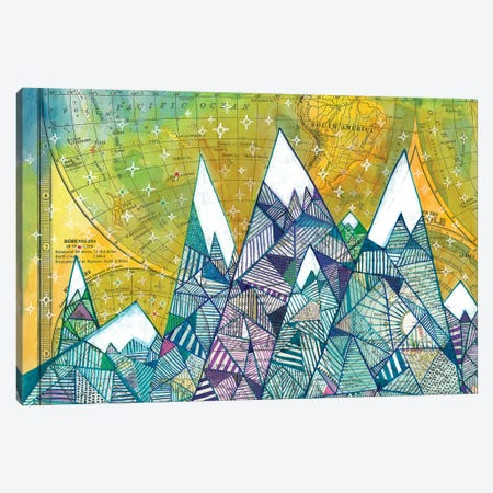 Maps And Mountains II Canvas Print #MDR37} by Madara Mason Canvas Art Print