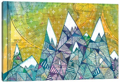Maps And Mountains II Canvas Art Print