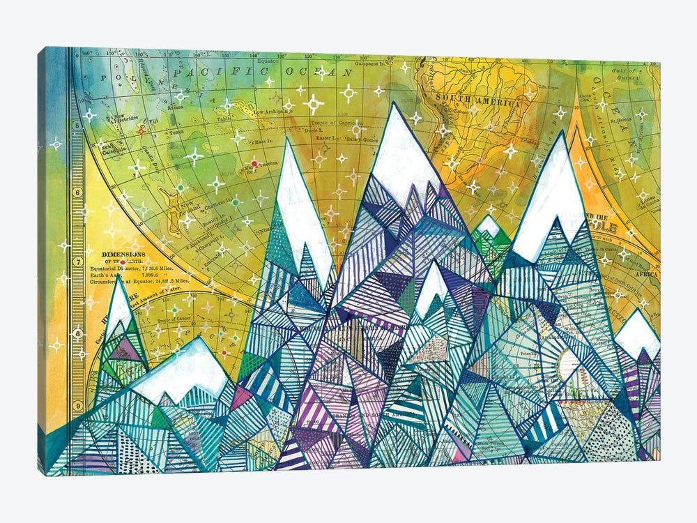 Maps And Mountains II by Madara Mason 1-piece Canvas Art Print