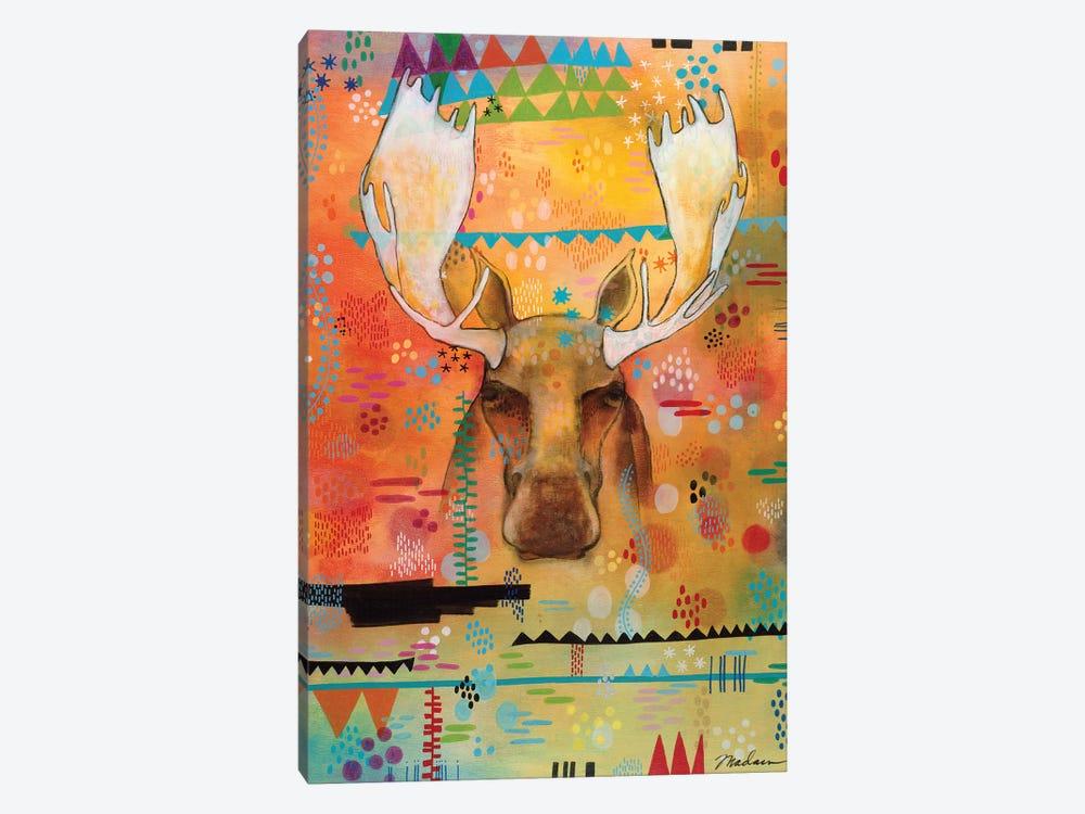 Moose At The Slough by Madara Mason 1-piece Canvas Print