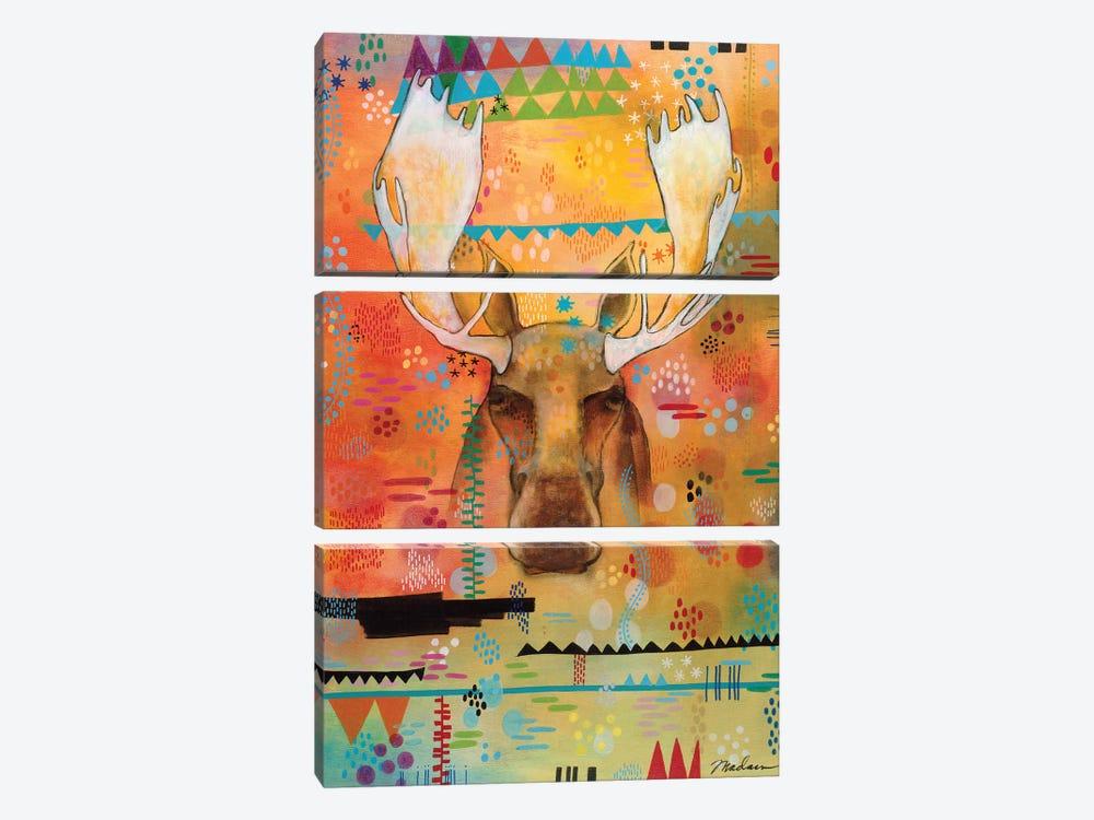 Moose At The Slough by Madara Mason 3-piece Canvas Art Print
