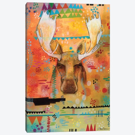 Moose At The Slough Canvas Print #MDR39} by Madara Mason Canvas Art
