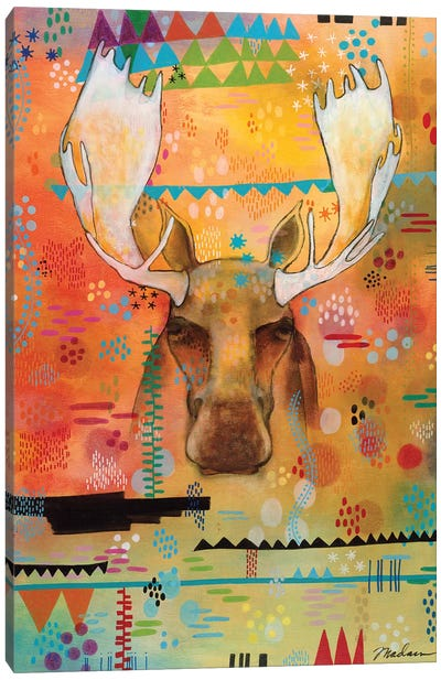 Moose At The Slough Canvas Art Print