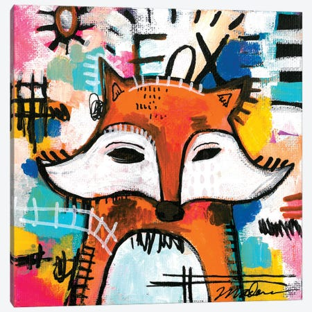 Alpha Fox Canvas Print #MDR3} by Madara Mason Canvas Art Print