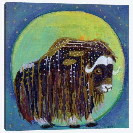 Muskox Moon Canvas Print #MDR40} by Madara Mason Art Print