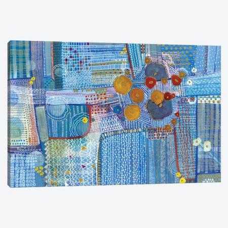 My Blue Garden Canvas Print #MDR41} by Madara Mason Canvas Art Print