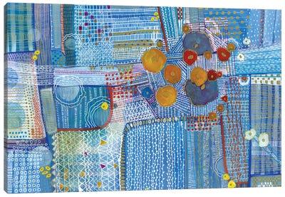 My Blue Garden Canvas Art Print