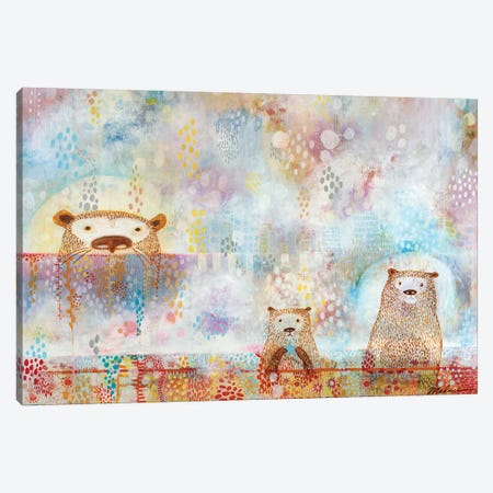 Otter Convention Canvas Print #MDR46} by Madara Mason Canvas Art