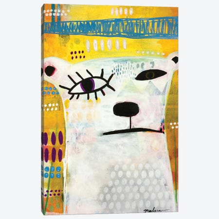 Picasso Bear Canvas Print #MDR47} by Madara Mason Canvas Art