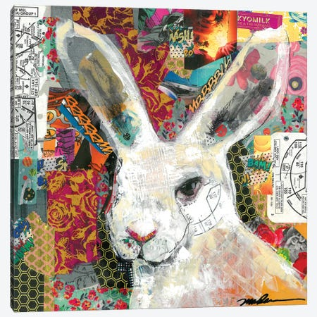 Rabbit Rabbit Canvas Print #MDR49} by Madara Mason Canvas Print