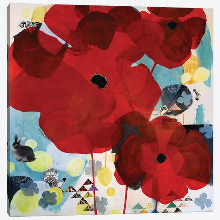 Red Poppy Canvas Print #MDR50} by Madara Mason Canvas Artwork