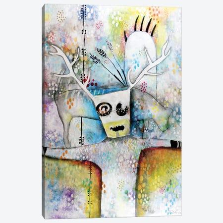 Shaman With Bear Paw Canvas Print #MDR53} by Madara Mason Canvas Wall Art