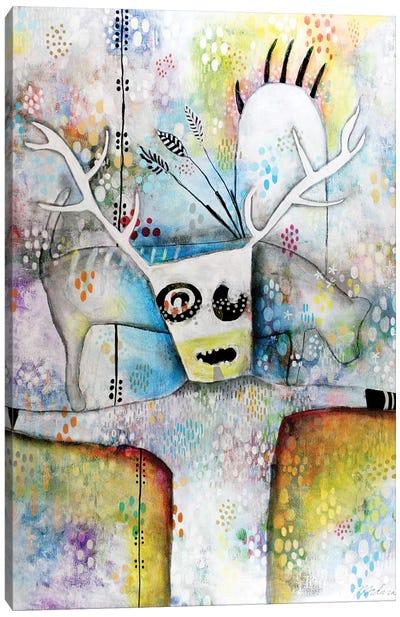 Shaman With Bear Paw Canvas Art Print