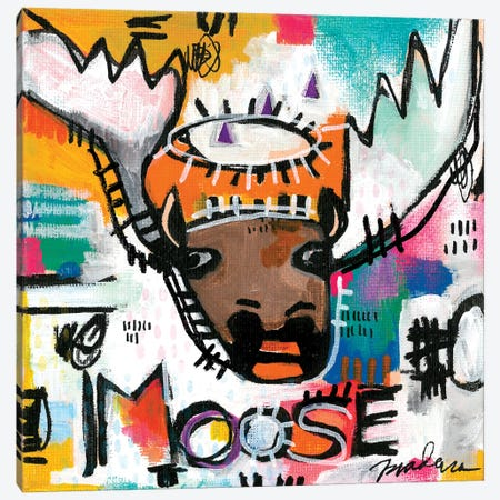 Alpha Moose Canvas Print #MDR5} by Madara Mason Canvas Artwork