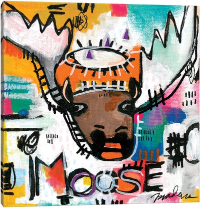 Alpha Moose Canvas Art Print