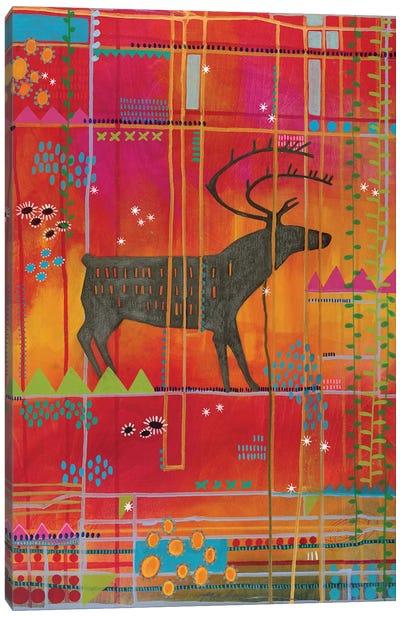 Summer Caribou Canvas Art Print