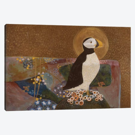 Summer Puffin Canvas Print #MDR62} by Madara Mason Art Print