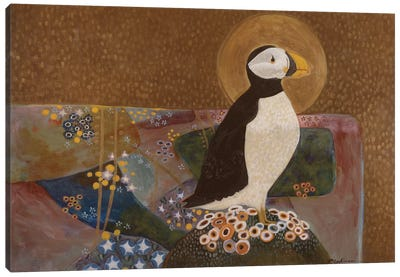 Summer Puffin Canvas Art Print