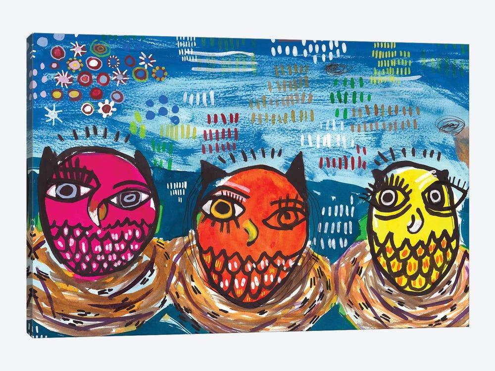 Three Little Owls by Madara Mason 1-piece Canvas Artwork
