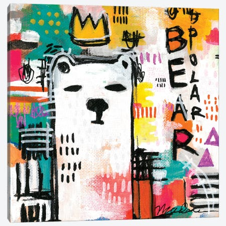Alpha Polar Bear Canvas Print #MDR6} by Madara Mason Canvas Artwork