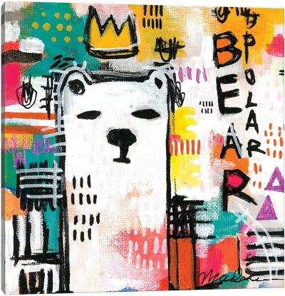 Alpha Polar Bear Canvas Art Print