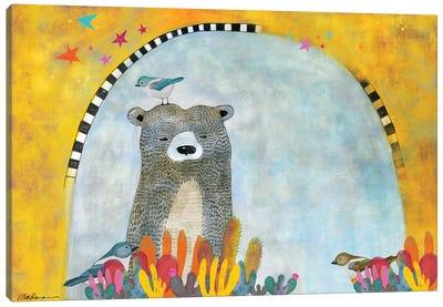 An Alaskan Visits The Desert Canvas Art Print