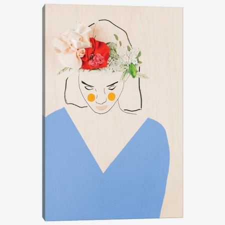 Flower Head II Canvas Print #MDS11} by Meredith Steele Canvas Art Print