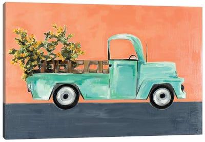 Kumquat Truck Canvas Art Print