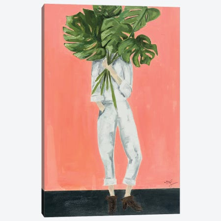Monstera Canvas Print #MDS28} by Meredith Steele Canvas Art