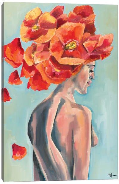Nude Poppy Canvas Art Print