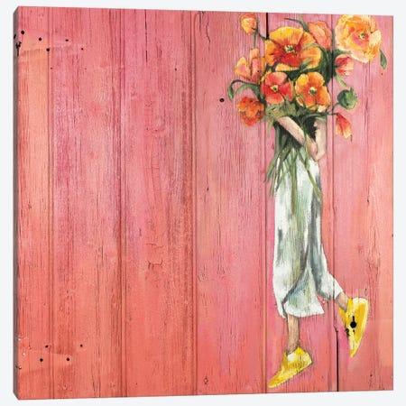 Poppy III 3-Piece Canvas #MDS41} by Meredith Steele Canvas Artwork