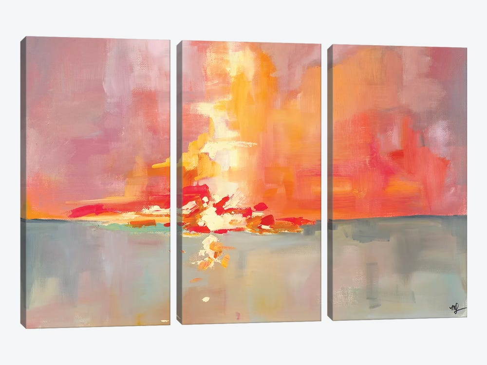 Sunset I by Meredith Steele 3-piece Canvas Art Print