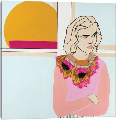 Window Woman I Canvas Art Print