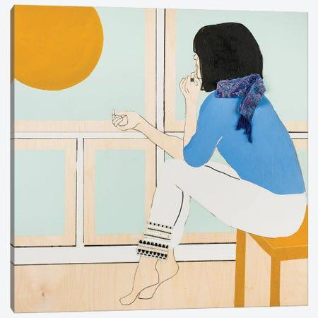 Window Woman II Canvas Print #MDS48} by Meredith Steele Canvas Artwork