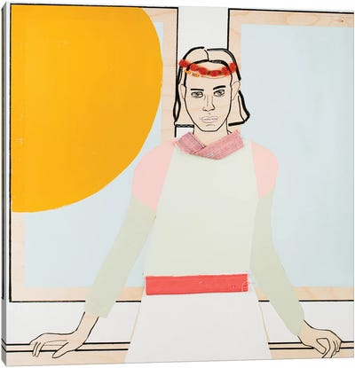 Window Woman III Canvas Art Print