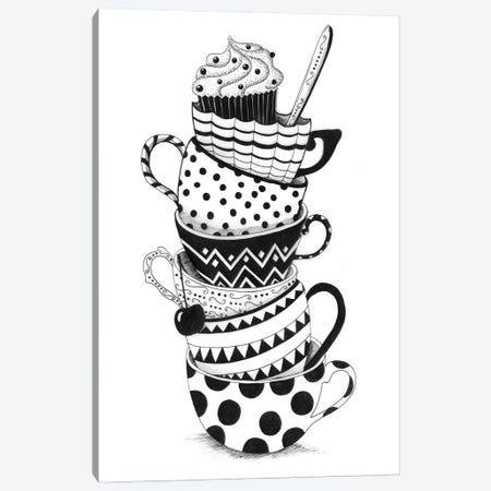 Cups And Cupcakes Canvas Print #MDT16} by Madalina Tantareanu Art Print