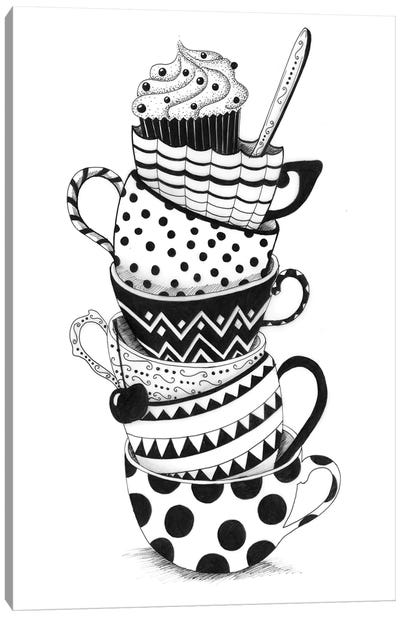Cups And Cupcakes Canvas Art Print