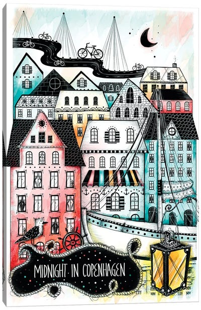 Midnight In Copenhagen Canvas Art Print