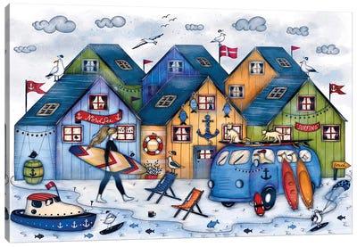 Denmark Surfing Canvas Art Print
