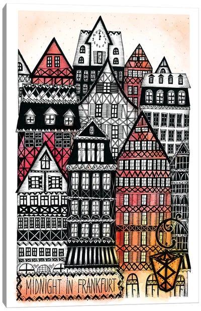 Midnight In Frankfurt Canvas Art Print