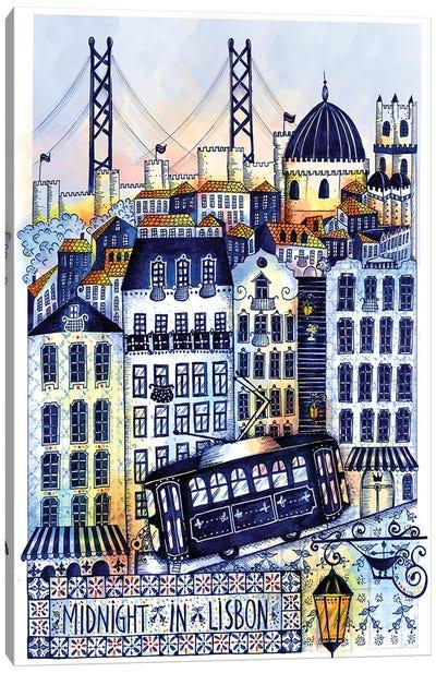 Midnight In Lisbon Canvas Art Print