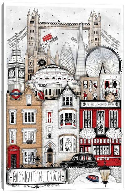 Midnight In London Canvas Art Print